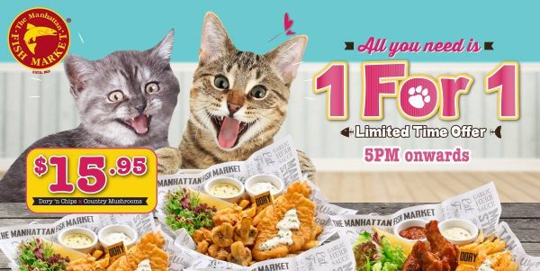 The Manhattan FISH MARKET Singapore 1 FOR 1 Promotion ends 30 Sep 2018
