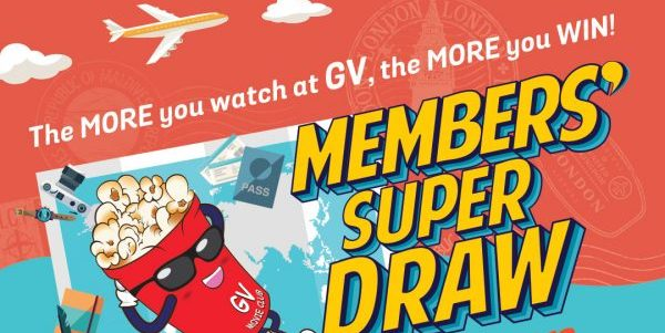 Golden Village Singapore Members' Super Draw Contest from 1 Nov 2018 – 3 Jan 2019