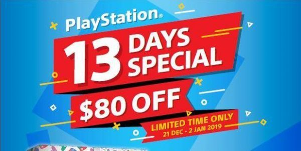 PLAYe Singapore 13-Day Special PlayStation Promotion 21 Dec 2018 – 2 Jan 2019