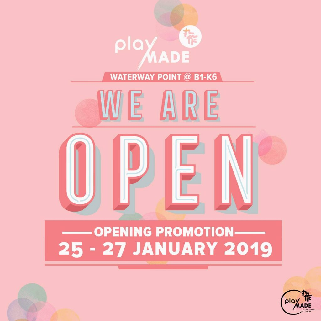 Playmade Singapore Fifth Outlet Opening 1-for-1 Promotion 25-27 Jan 2019 | Why Not Deals