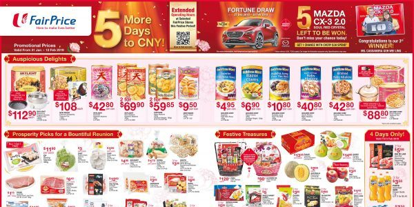 NTUC FairPrice Singapore Your Weekly Saver Promotion 31 Jan – 13 Feb 2019
