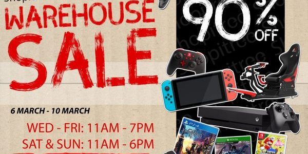 Video Games Warehouse Sale at Bukit Batok Up to 90% Off Promotion 6-10 Mar 2019