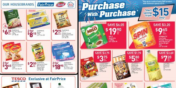 NTUC FairPrice Singapore Your Weekly Saver Promotion 15-21 Aug 2019
