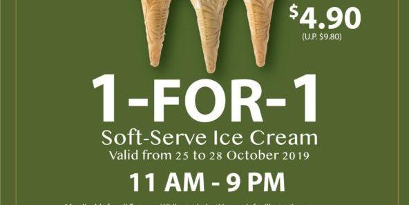 108 Matcha Saro Singapore TGIF 1-for-1 Soft-Serve Ice Cream Promotion 25-28 Oct 2019