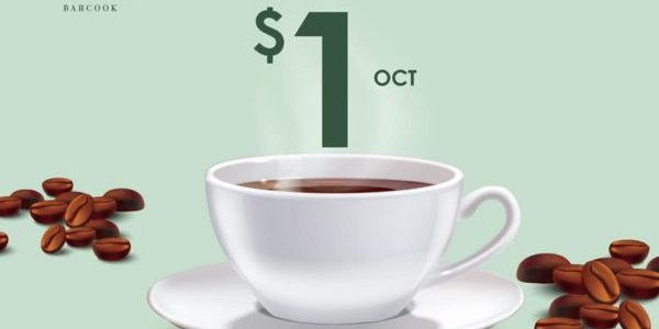 Barcook Bakery Singapore International Coffee Day $1 Local Coffee Promotion 1 Oct 2019