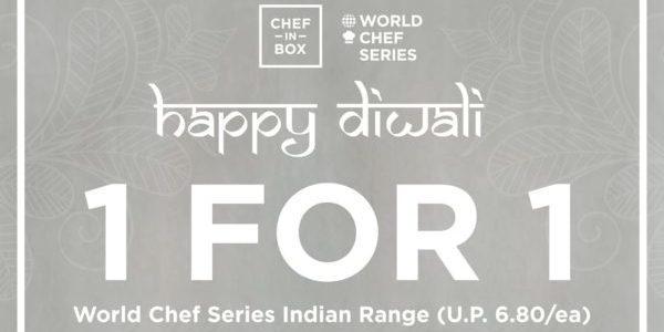 Chef in Box Singapore Celebrates Deepavali with 1-for-1 Promotion ends 2 Nov 2019