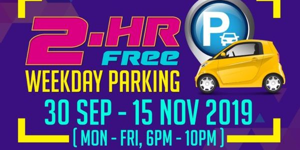 Jurong Point Singapore Spend $30 & Get 2-Hour FREE Parking Promotion ends 15 Nov 2019