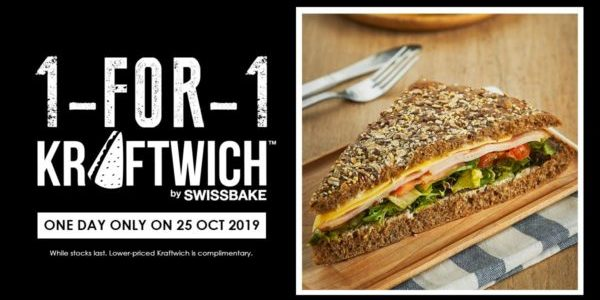 Kraftwich Singapore 1-for-1 Kraftwich Promotion only on 25 Oct 2019