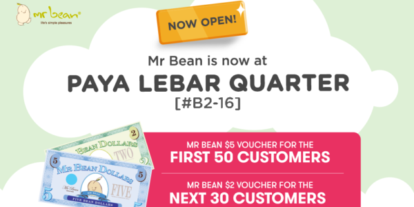 Mr Bean Singapore NEW Paya Lebar Quarter Outlet Opening Giveway on 23 Oct 2019