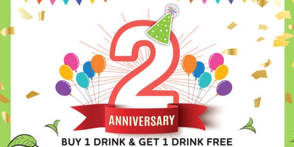 R&B Tea Singapore 2nd Anniversary 1-for-1 Promotion 11 Oct 2019