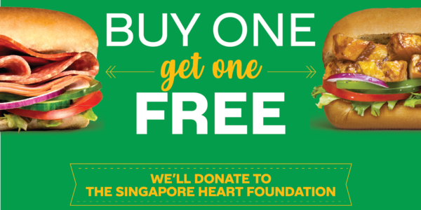 Subway Singapore World Sandwich Day Buy One Get One FREE Promotion only on 31 Oct 2019