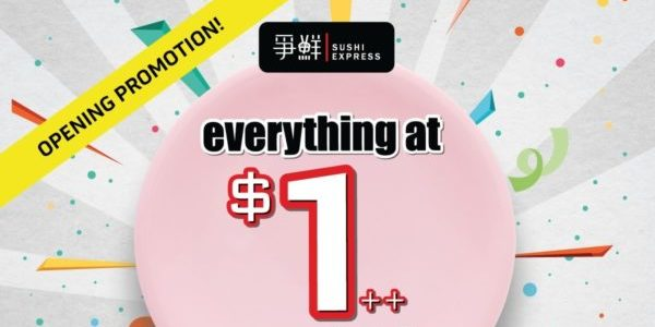 Sushi Express Singapore Hougang Mall Outlet Grand Opening Promotion 30 Oct – 1 Nov 2019