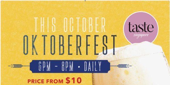 Taste Singapore Oktoberfest FREE-Flow Beer Promotion 10-31 Oct 2019