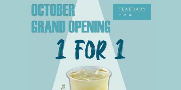 Teabrary Singapore 10.10 1-for-1 Drinks Promotion 10-20 Oct 2019