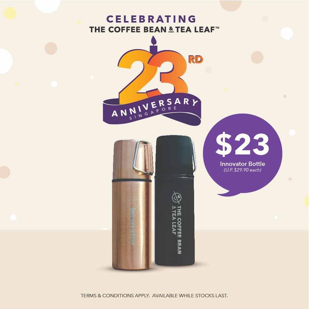 The Coffee Bean & Tea Leaf Singapore 23rd Anniversary Promotions 23 Oct - 3 Nov 2019 | Why Not Deals 2