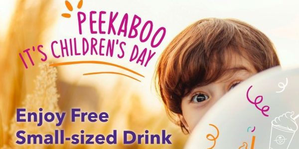 The Coffee Bean & Tea Leaf Singapore FREE Small-sized Drink Children's Day Promotion 4 Oct 2019