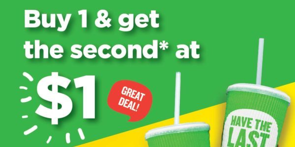 Boost Juice Bars Singapore Buy 1 & Get 2nd at $1 Promotion only on 12 Nov 2019