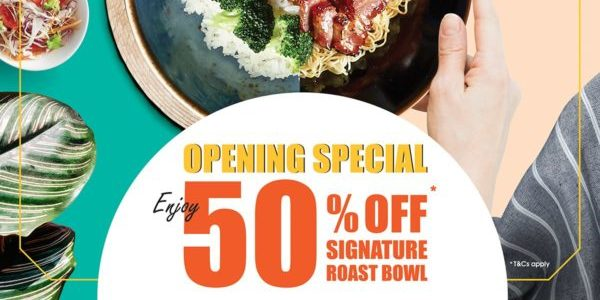 Crystal Jade GO Singapore 50% Off Signature Roast Bowls Opening Special Promotion 18-29 Nov 2019