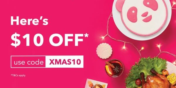 foodpanda Singapore $10 Off Promo Code Christmas Promotion ends 11 Dec 2019