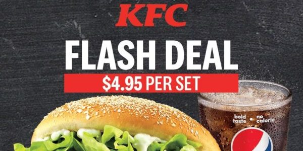 KFC Singapore Mighty Zinger Meal @ $4.95 Flash to Redeem This Promotion from 4-9 Nov 2019