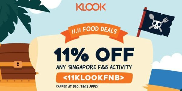 Klook Singapore 11.11 Food Deals Up to 11% Off Promotion 1-12 Nov 2019