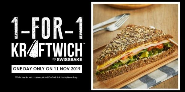 Kraftwich Singapore 1-for-1 Kraftwich Promotion only on 11 Nov 2019