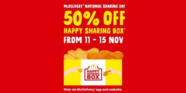 McDonald's Singapore Enjoy 50% Off Happy Sharing Box Promotion 11-15 Nov 2019