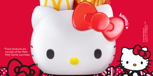 McDonald's Singapore New Hello Kitty Carrier for $7.90 with Any Extra Value Meal Purchase While Stocks Last