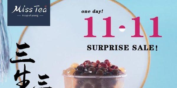 Miss Tea Singapore 11.11 Surprise Sale 50% Off Signature Milk Tea Promotion 11 Nov 2019