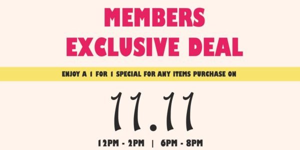 Mr Coconut Singapore Members Exclusive 11.11 1-for-1 Promotion 11 Nov 2019