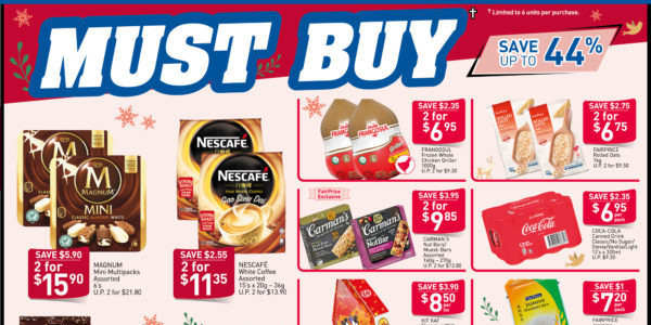 NTUC FairPrice Singapore Your Weekly Saver Promotions 28 Nov – 4 Dec 2019