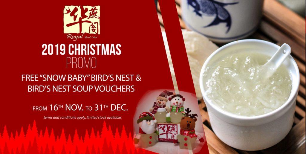 Royal Bird's Nest Singapore Christmas Online Exclusive Promotion 15 Nov - 31 Dec 2019 | Why Not Deals