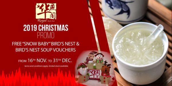 Royal Bird's Nest Singapore Christmas Online Exclusive Promotion 16 Nov – 31 Dec 2019