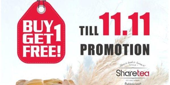 Sharetea Singapore Woodlands Exclusive 1-for-1 Promotion ends 11 Nov 2019