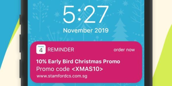 Stamford Catering Singapore Christmas Early Bird 10% Off Promotion ends 2 Dec 2019