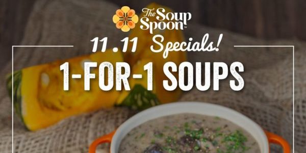 The Soup Spoon Singapore Enjoy 1-for-1 Soups 11.11 Special Promotion only on 11 Nov 2019