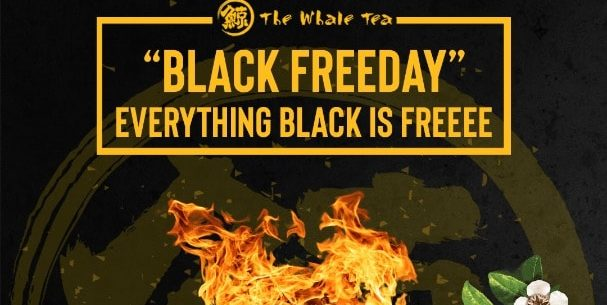 The Whale Tea SG Black Friday FREE Toppings Promotion only on 29 Nov 2019
