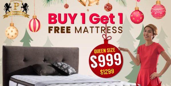 Buy 1 Get 1 Free Mattress. FREE Nikawa safe. FREE $100 Voucher for latest