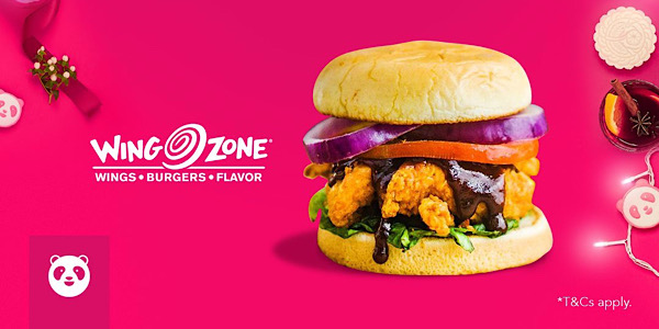 foodpanda SG 50% Off Wing Zone only on 23 Dec 2019
