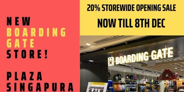 The Planet Traveller SG NEW Boarding Gate Store at Plaza Singapura 20% Off Opening Sale ends 8 Dec 2019