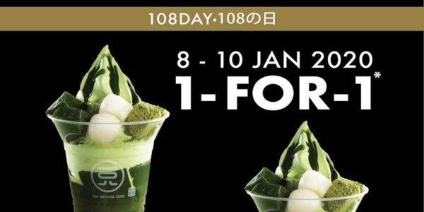 108 Matcha Saro SG 1-for-1 108 Matcha LOVE Parfait Promotion 8-10 Jan 2020