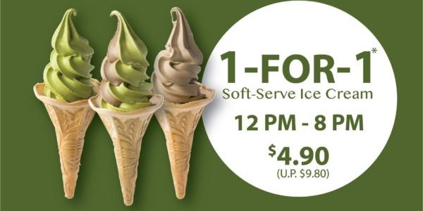 108 Matcha Saro SG 1-for-1 Soft-Serve Ice-Cream only on 20 Jan 2020
