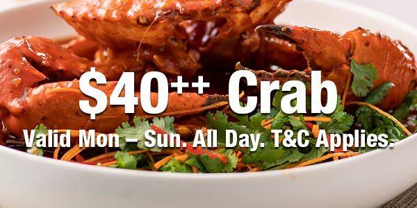 JÙN SG $40++ Crab Promotion