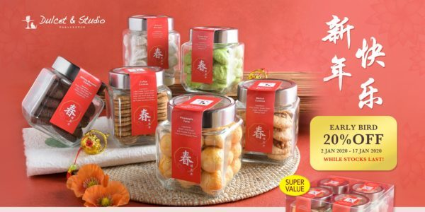 Dulcet & Studio SG 20% Off Chinese New Year Cookies 2-17 Jan 2020
