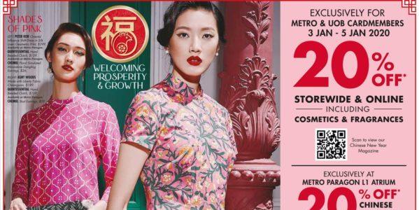 METRO SG 20% Off Storewide & Online 3-5 Jan 2019