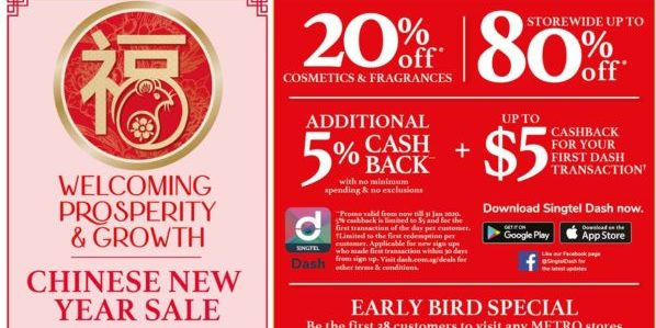 METRO SG Chinese New Year Sale Up to 80% Off Storewide