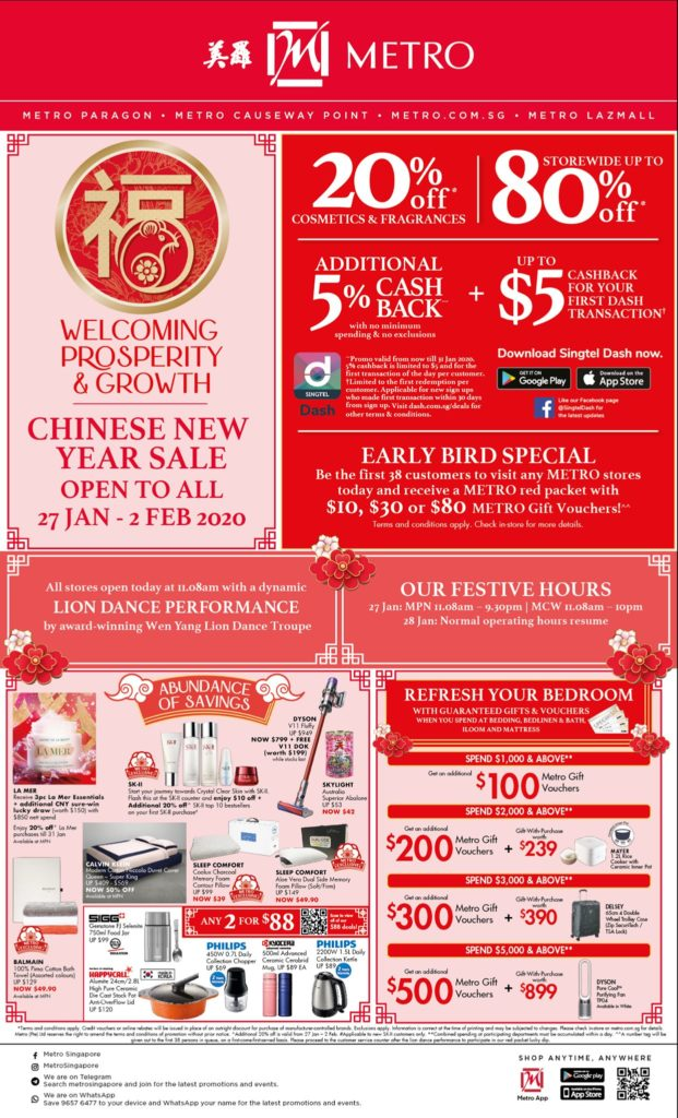 METRO SG Chinese New Year Sale Up to 80% Off Storewide   Why Not Deals