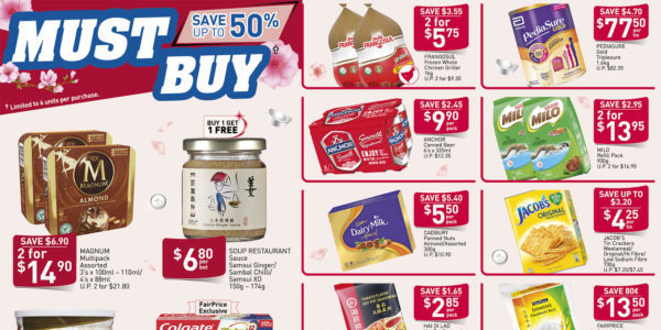 NTUC FairPrice SG Your Weekly Saver Promotion 16-22 Jan 2020