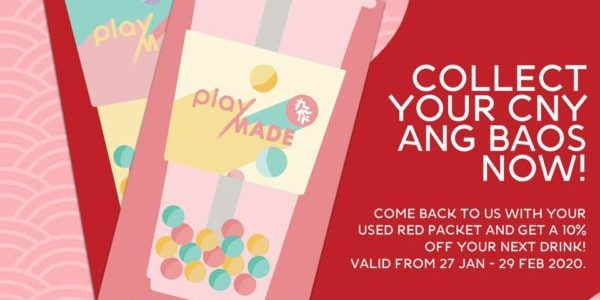 Playmade SG Get 10% Off Next Drink 27 Jan – 29 Feb 2020