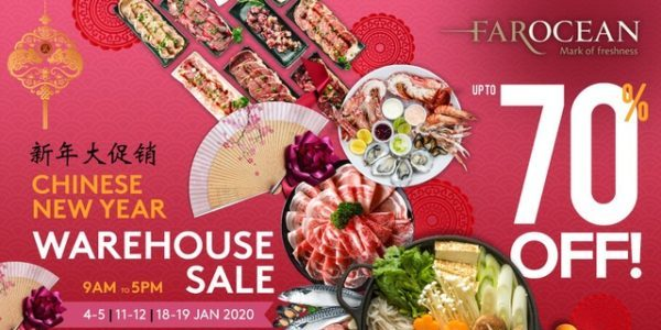 Up to 70% Off at Far Ocean Seafood CNY Warehouse Sale!